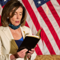 (Video) Nancy Pelosi holds bible, then quotes Bush & Obama in response to Trump's bible visit to church