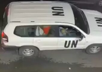 Deeply disturbed video of couple having sex in UN official vehicle