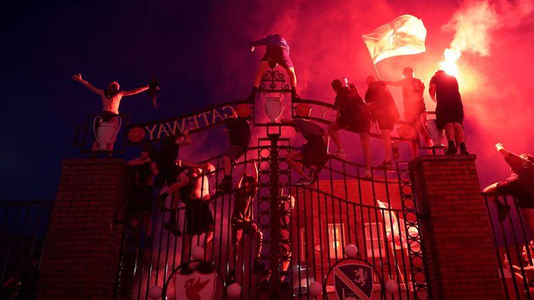 Liverpool Fans Arrested During Premier League Title Win Celebration