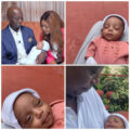 Regina Daniels and husband, Ned Nwoko, finally reveal their son's face