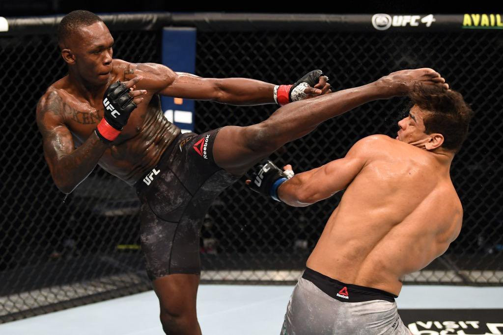 Nigerian MMA fighter, Israel Adesanya knocks out Paulo Costa to retain his UFC middleweight title (Videos)