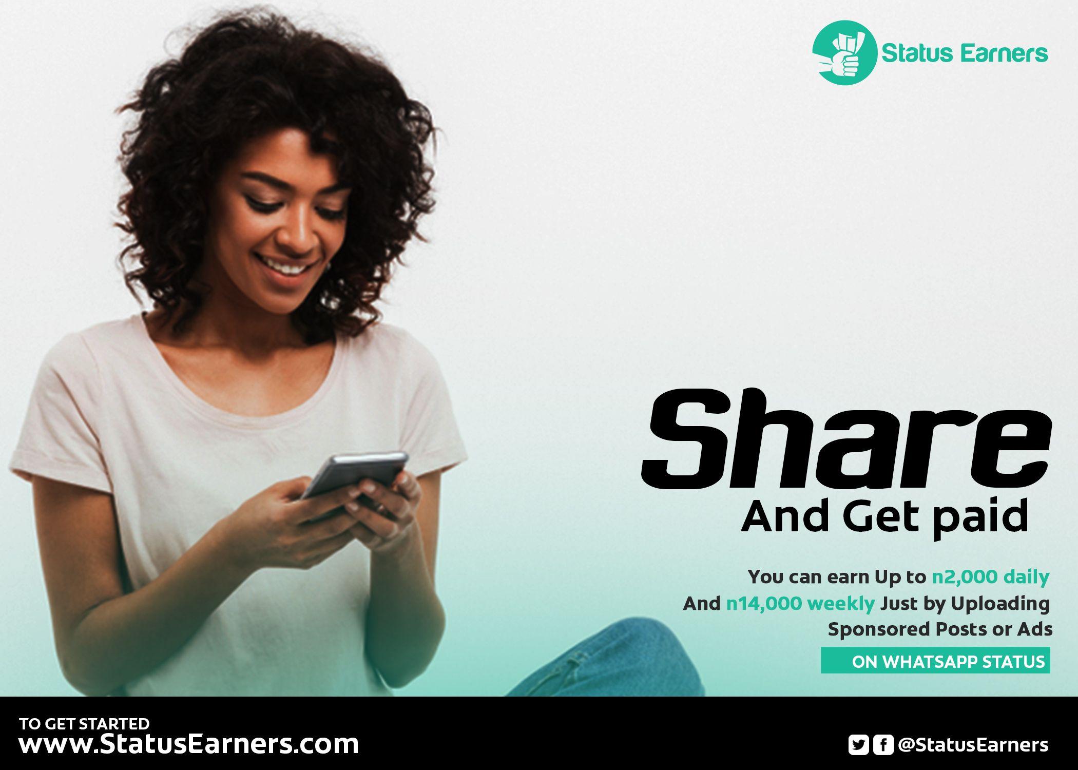 Status Earners: How To Make Money Sharing Post On WhatsApp Status